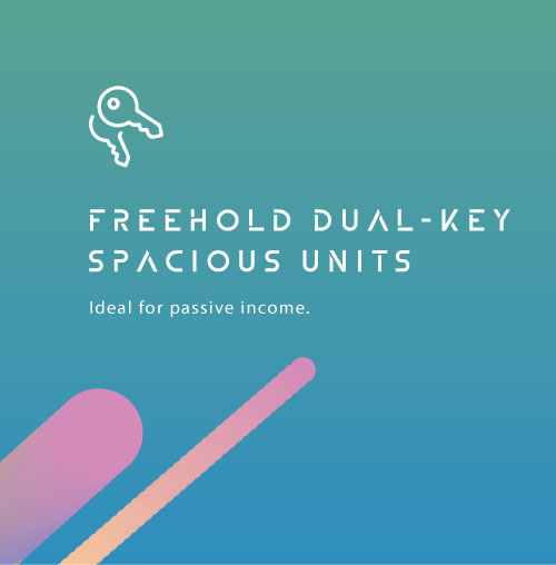 Freehold Dual-Key Spacious Units